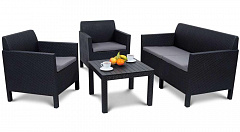 Комплект мебели ORLANDO Set with small table ALLIBERT графит
